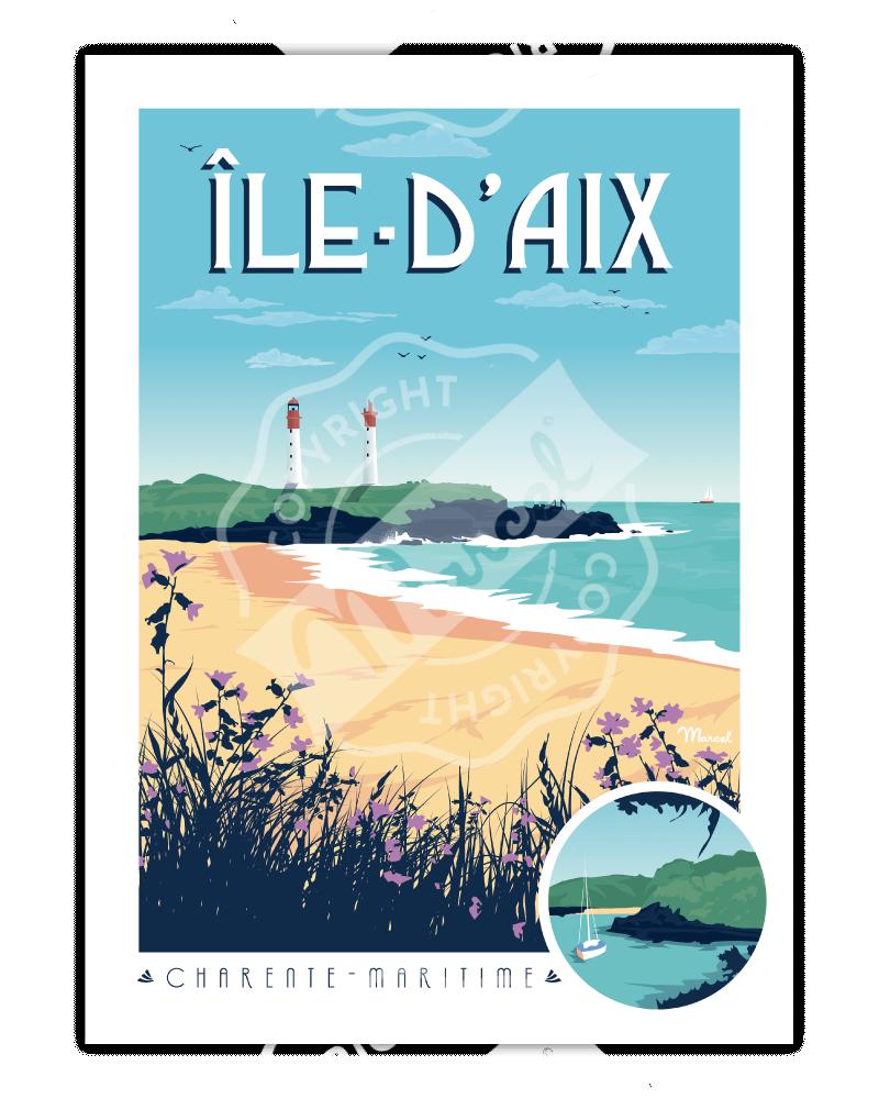 Poster ILE D'AIX
