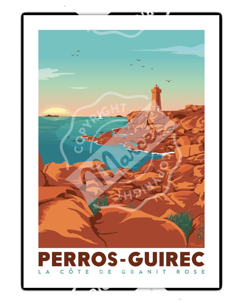 """Affiche PERROS-GUIREC """"la..."""