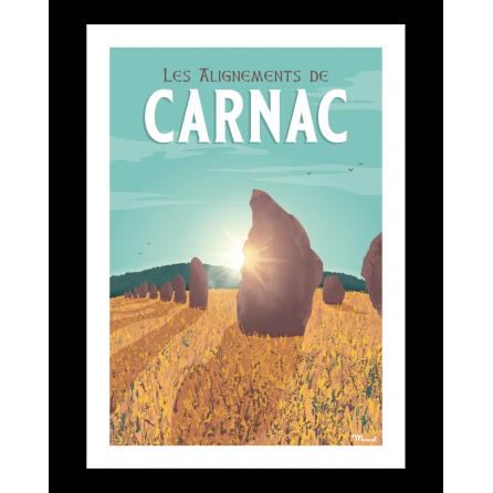 """Affiche CARNAC """"Les Alignements"""""""
