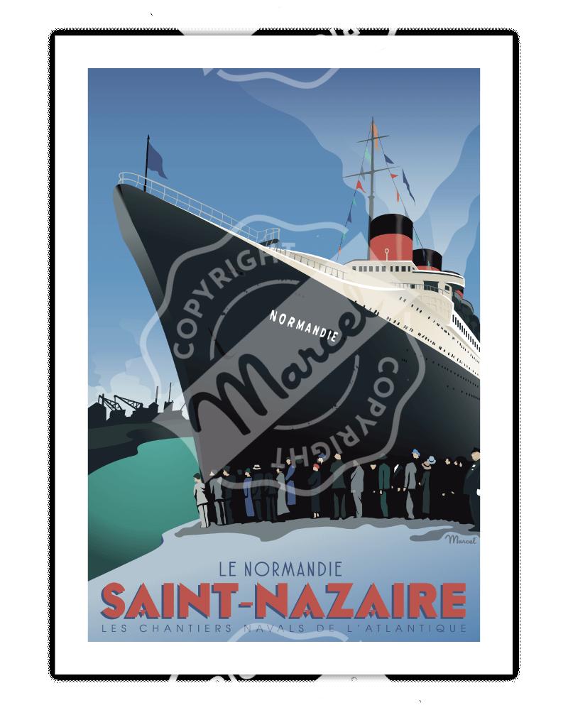 """Poster SAINT-NAZAIRE """"Le..."""