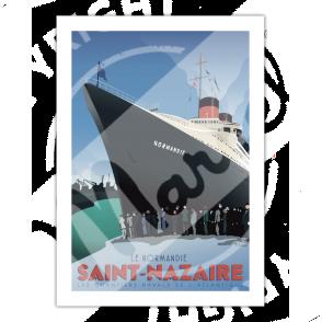 """Affiche SAINT-NAZAIRE """"Le Normandie"""""""