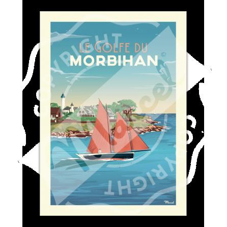 """Affiche GOLFE DU MORBIHAN """"Port Navalo"""""""