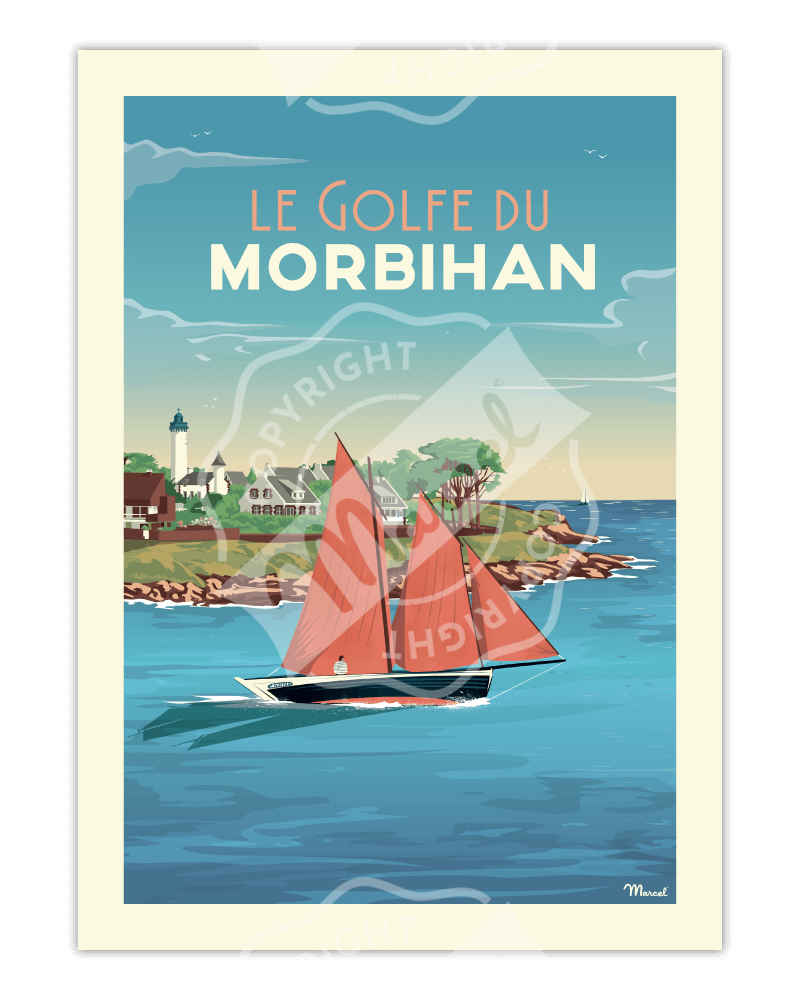 Poster GOLFE DU MORBIHAN...