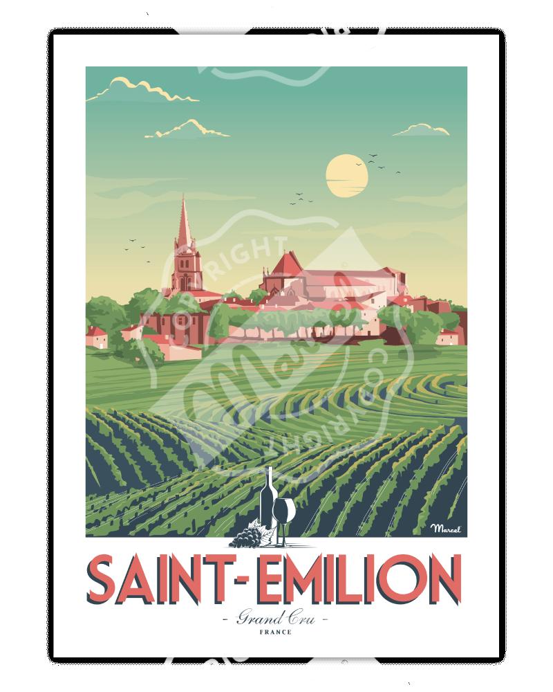 Poster SAINT-EMILION