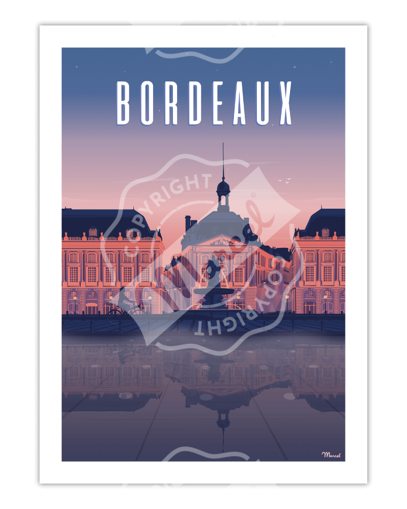 "Affiche Bordeaux ""Place de..."