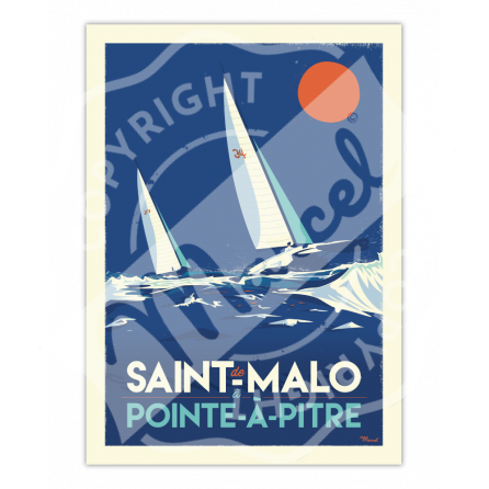 Affiche ST MALO / POINTE-A-PITRE