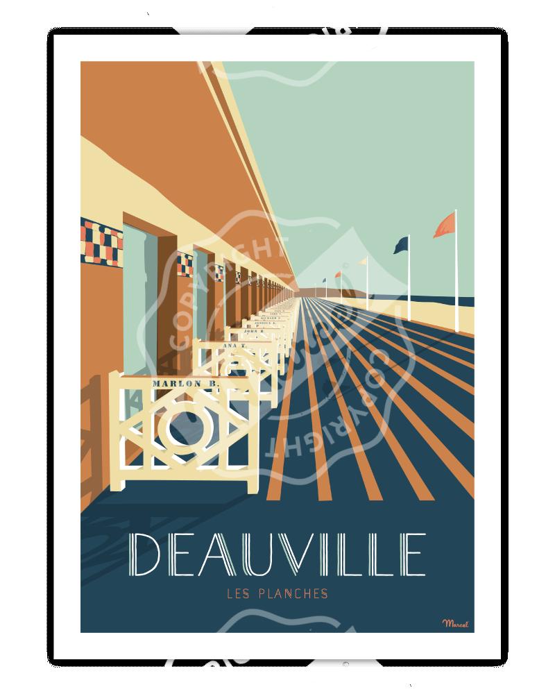 """Affiche DEAUVILLE """"Les Planches"""""""