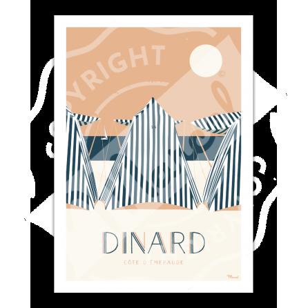 """Affiche DINARD """"Côte d'Emeraude"""""""