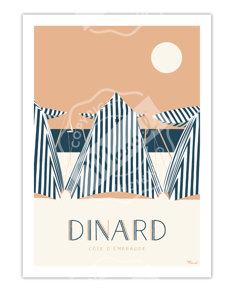 """Poster DINARD """"Côte..."""
