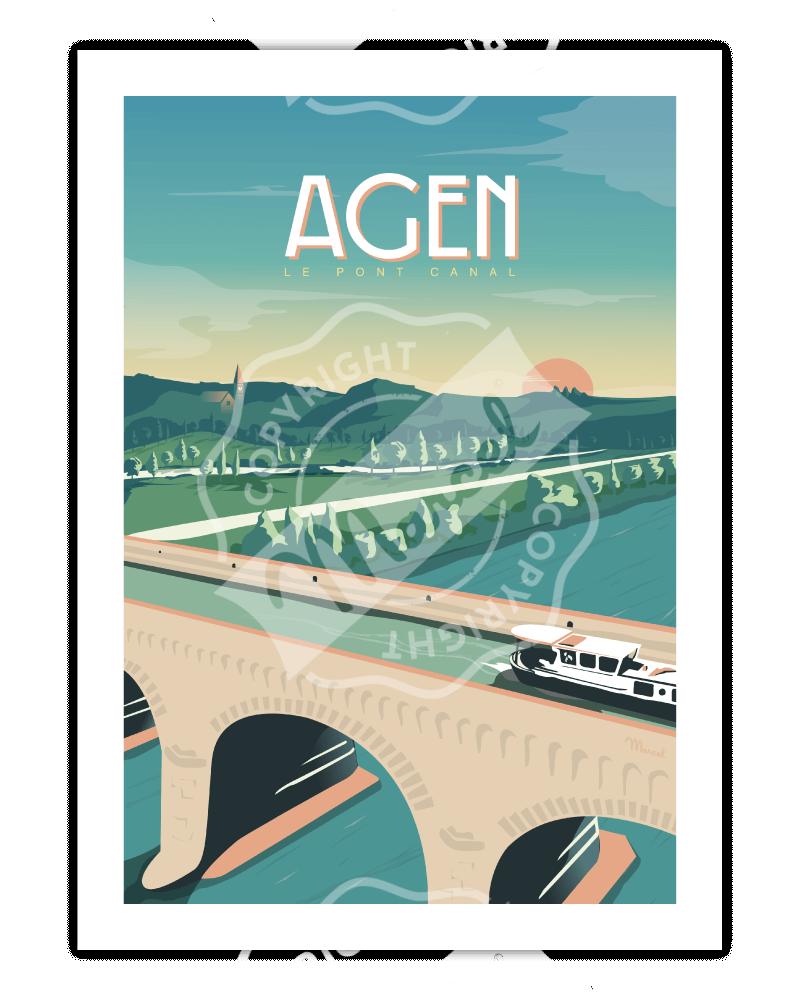 """Poster AGEN """"Le Pont Canal"""""""