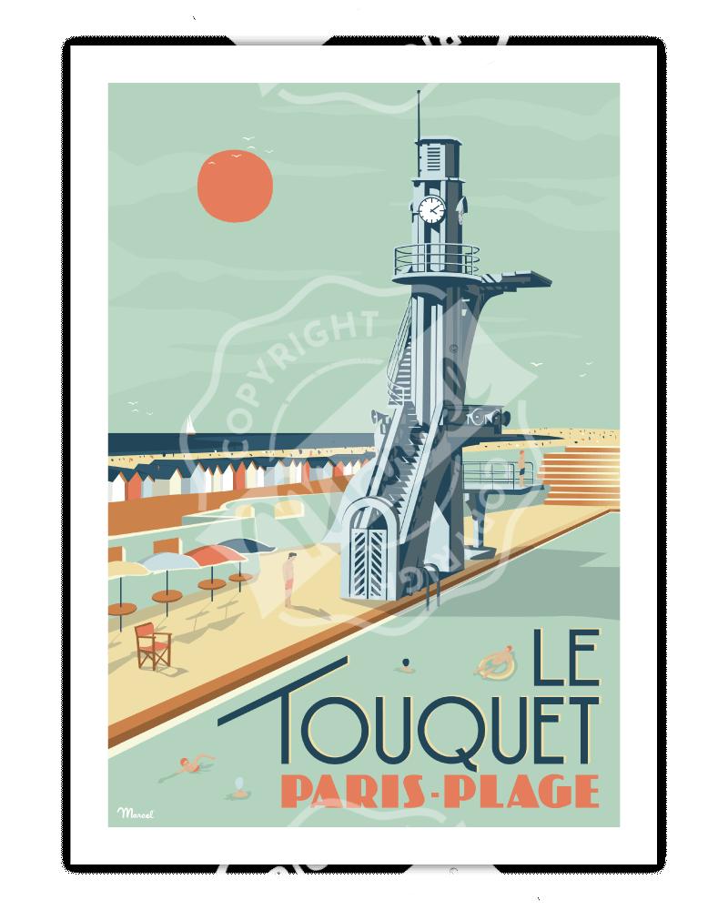 """Affiche  LE TOUQUET """"Paris-Plage"""""""