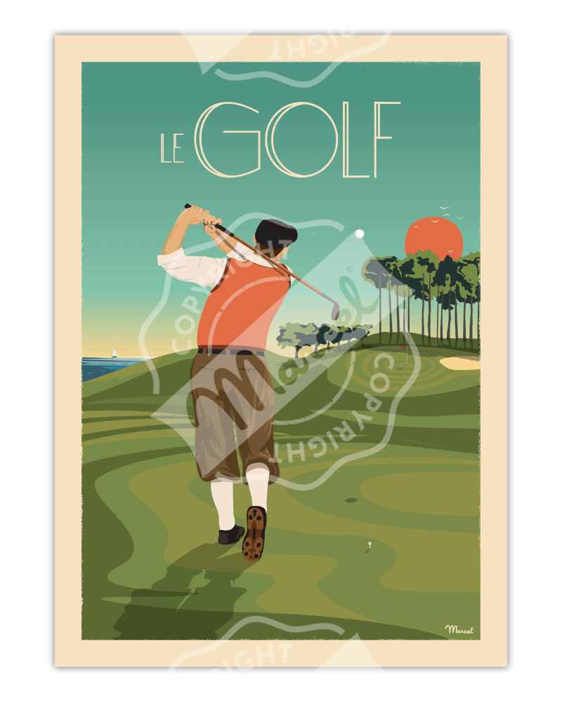 Poster LE GOLF