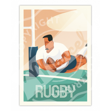 Affiche LE  RUGBY