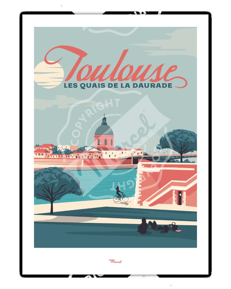 """Poster  Toulouse """"Quais de..."""