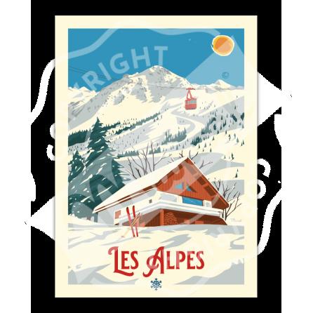 """Affiche Marcel LES ALPES """"Le Chalet"""""""