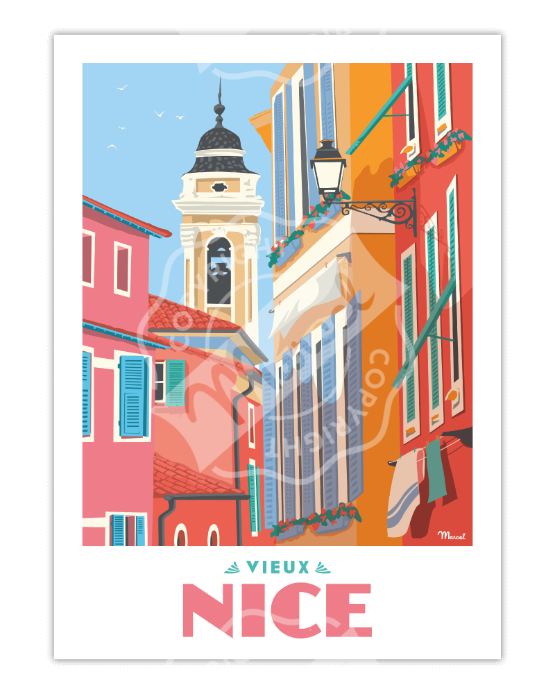 "Poster NICE ""Le Vieux Nice"""