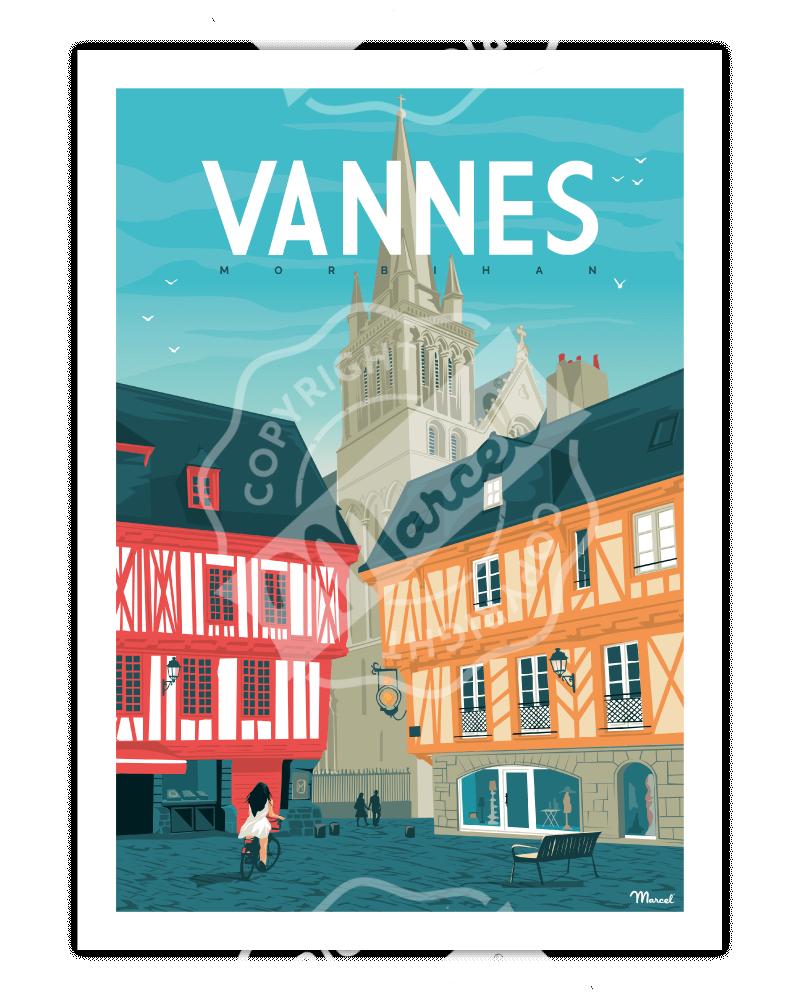 """Poster VANNES """"Place Henri IV"""""""