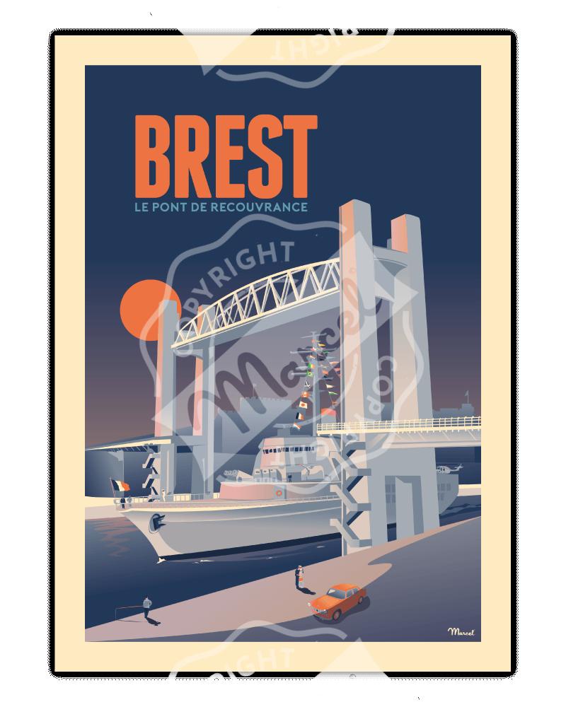 """Poster BREST """"Le Pont de..."""
