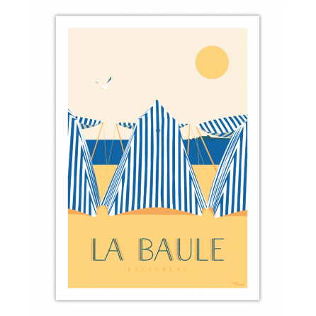 """Affiche La Baule """"Les Tentes"""""""
