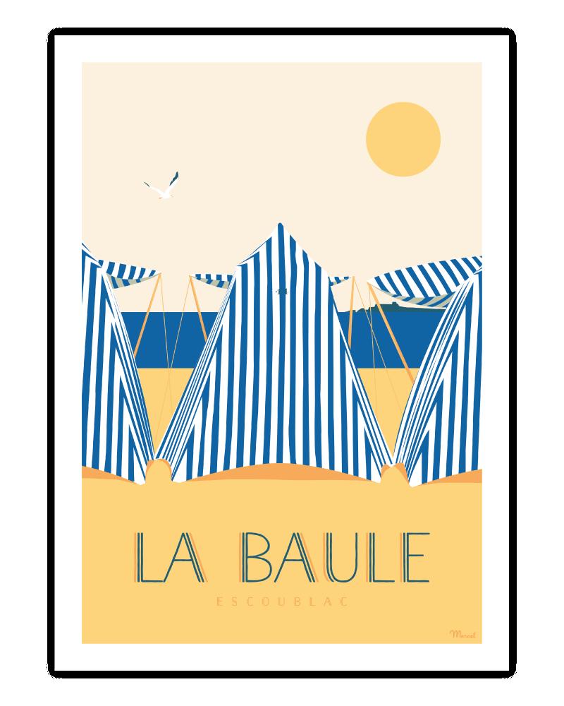 "Poster La Baule ""Les Tentes"""