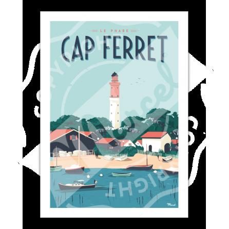 "Affiche Cap Ferret ""Le Phare"""