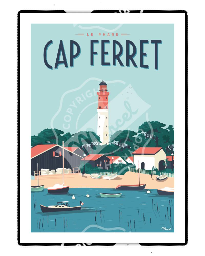 """Poster Cap Ferret """"Le Phare"""""""