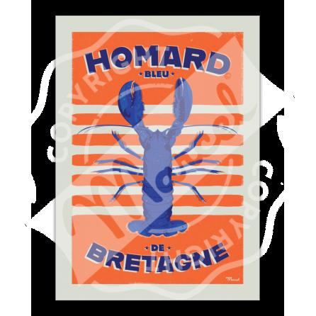Affiche HOMARD Bleu de Bretagne