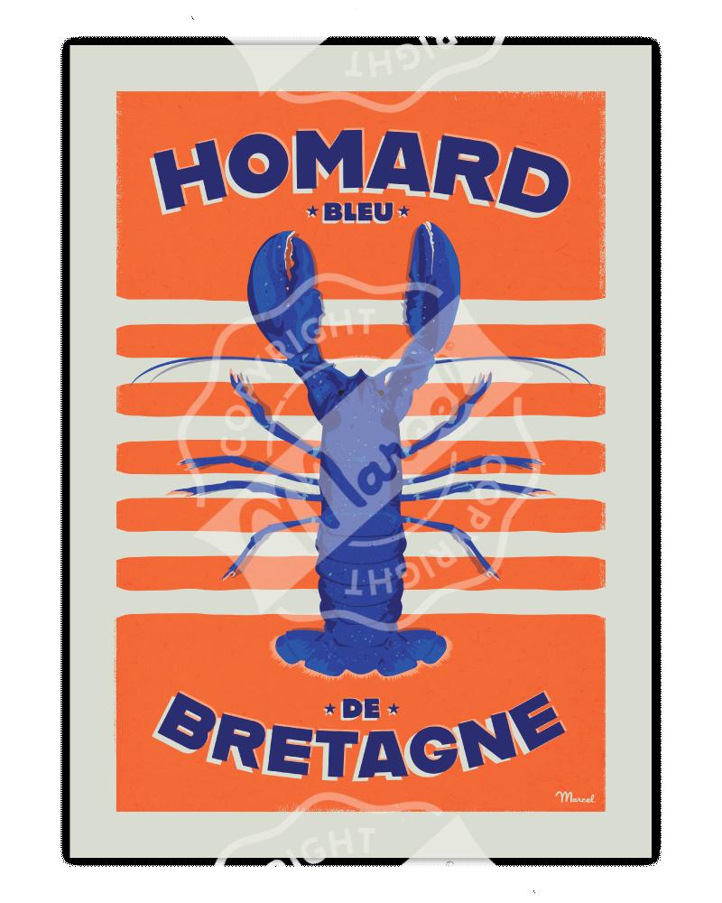 Poster HOMARD Bleu de BRETAGNE