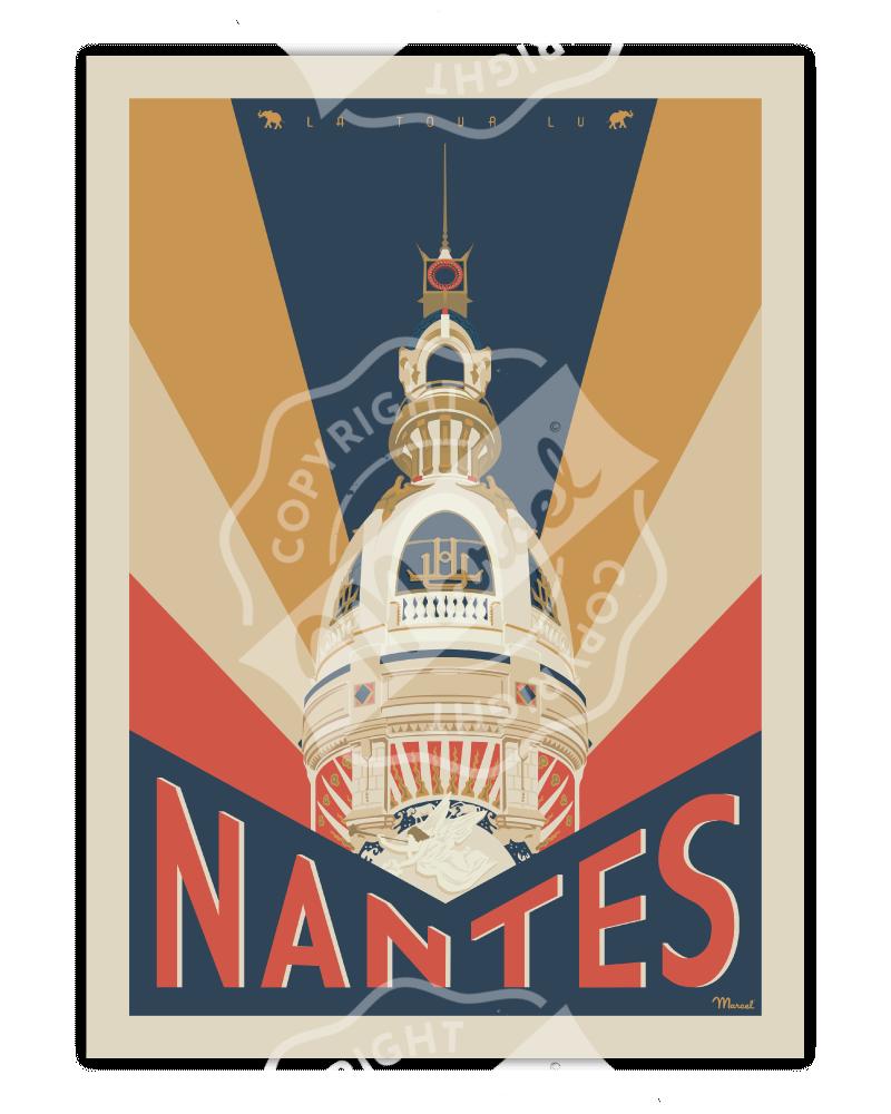 """Affiche NANTES """"La Tour LU"""""""