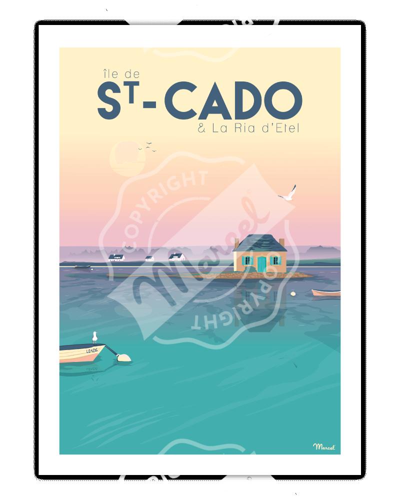 """Affiche ST-CADO """"La Ria d'Etel"""""""