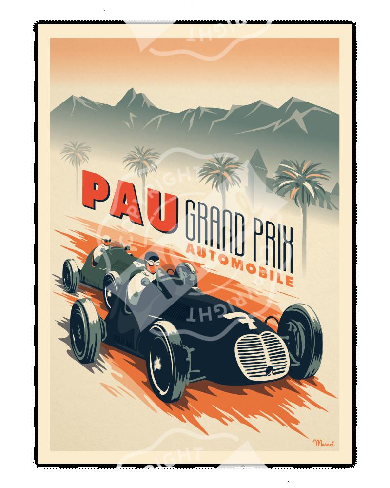 "Poster Pau ""Grand Prix..."