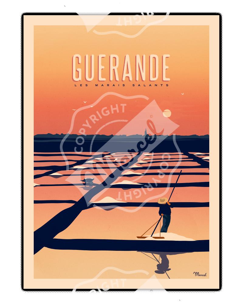 """Poster GUERANDE """"Les Marais..."""