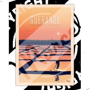 """Affiche GUERANDE """"Les Marais Salants"""""""