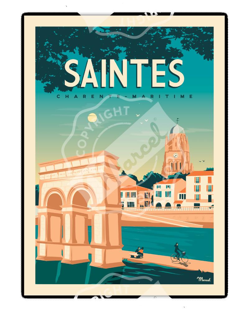 Poster Marcel SAINTES...