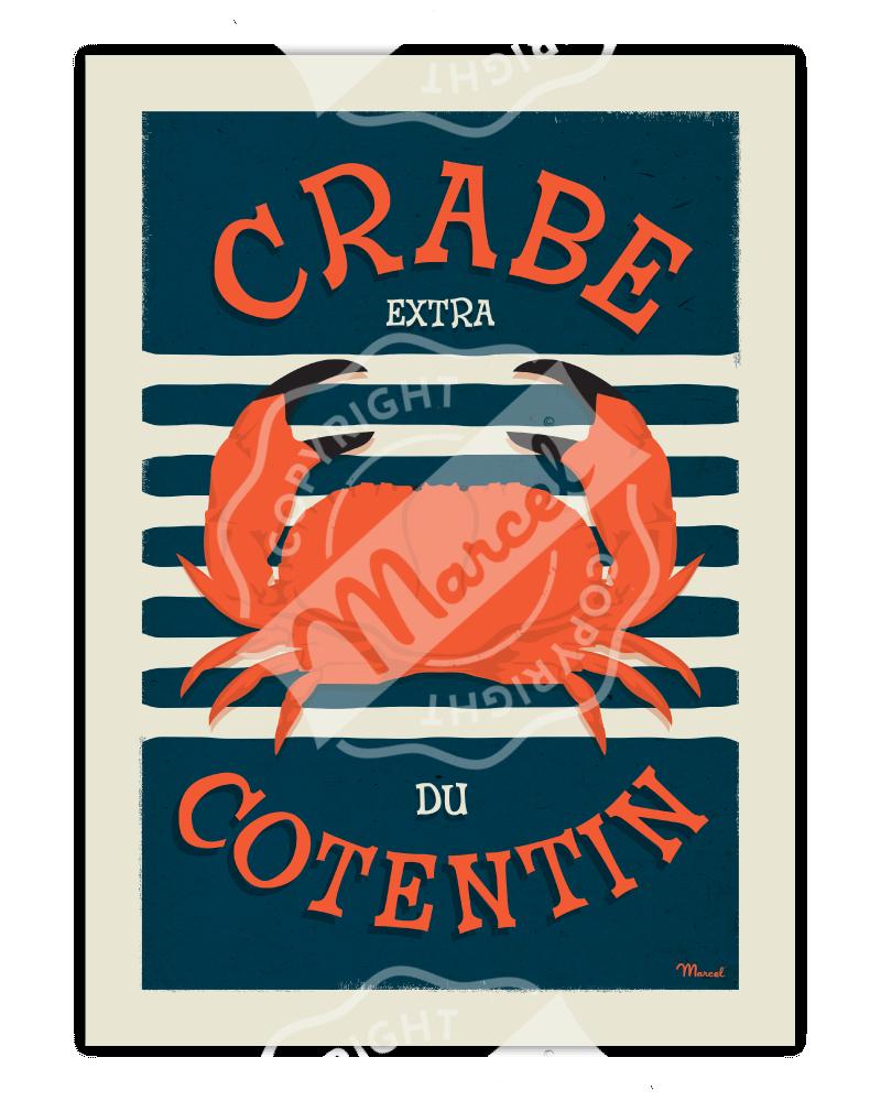 Poster CRABE du Cotentin