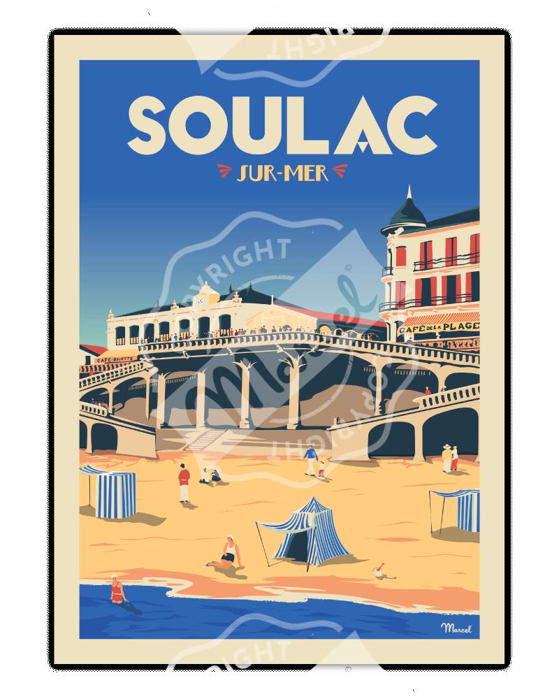 """Poster SOULAC """"Le Ponton"""""""