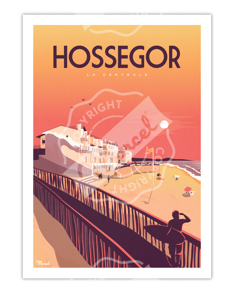 "Poster HOSSEGOR ""La Centrale"""
