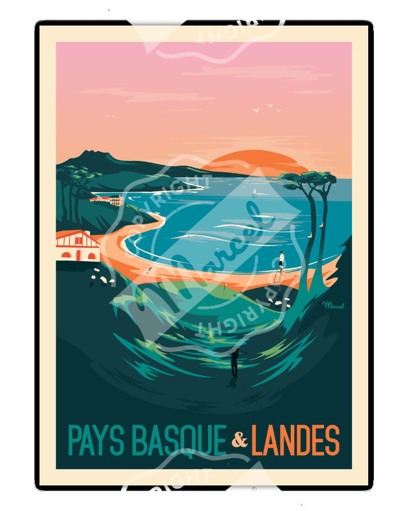 Poster PAYS BASQUE & LANDES