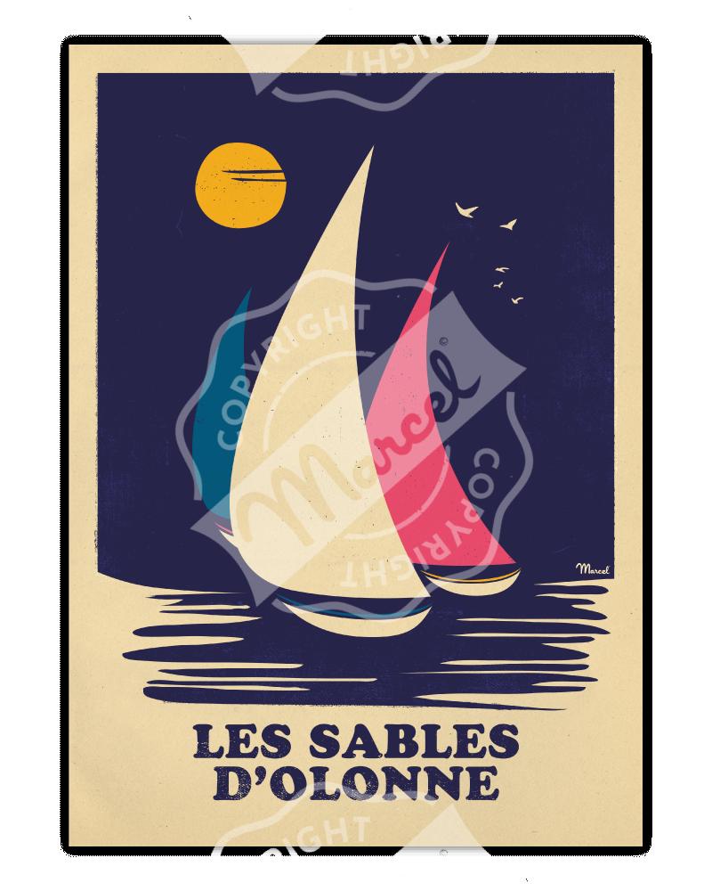 Poster LES SABLES D'OLONNE...