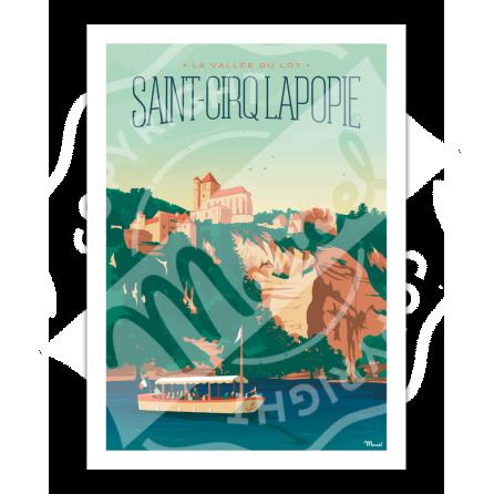 AFFICHE SAINT-CIRQ LAPOPIE
