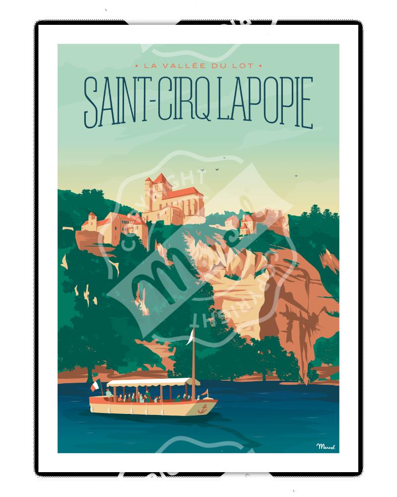 Poster SAINT-CIRQ LAPOPIE