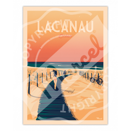 """Affiche Lacanau """"La Plage"""""""