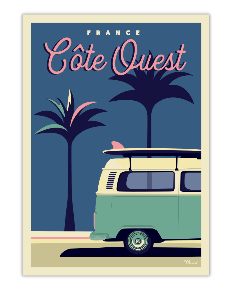 "Poster West Coast ""Palm3Van"""