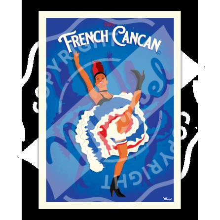 """AFFICHE PARIS """"French Cancan"""""""