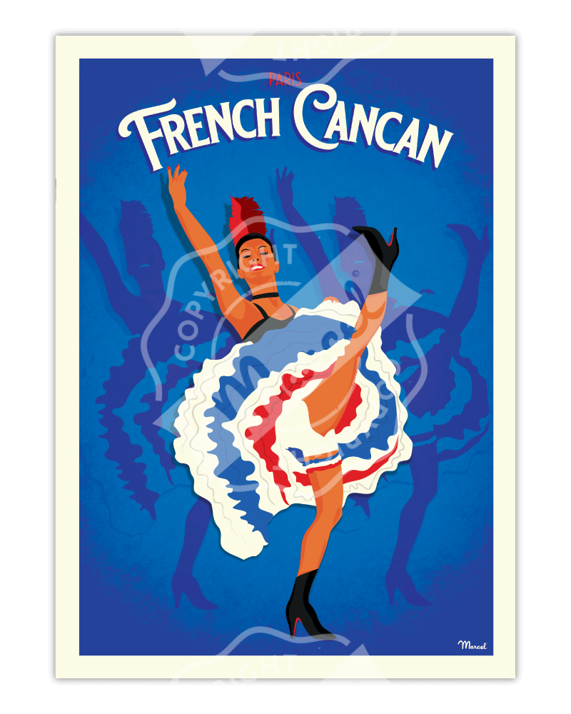 "Poster PARIS ""French Cancan"""