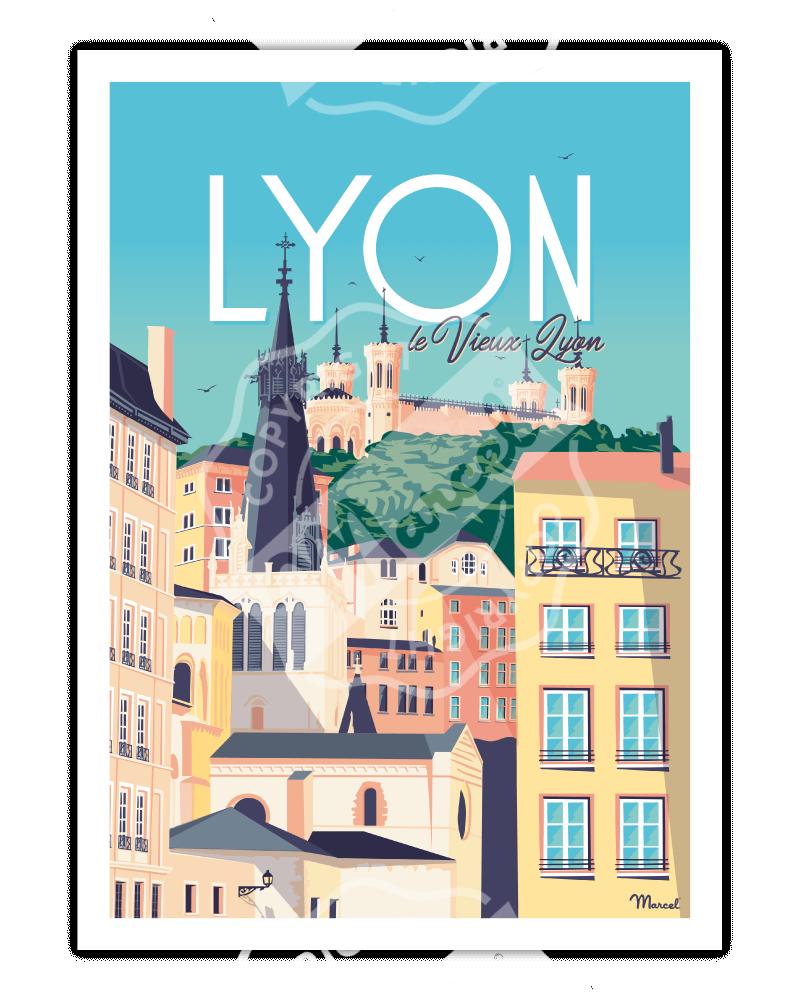 """Poster LYON """"Le Vieux Lyon"""""""