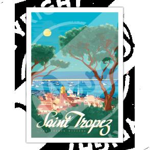 "Affiche SAINT-TROPEZ ""The French Riviera"""