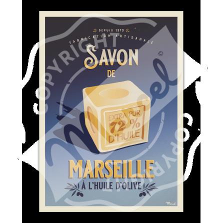 Affiche SAVON de MARSEILLE