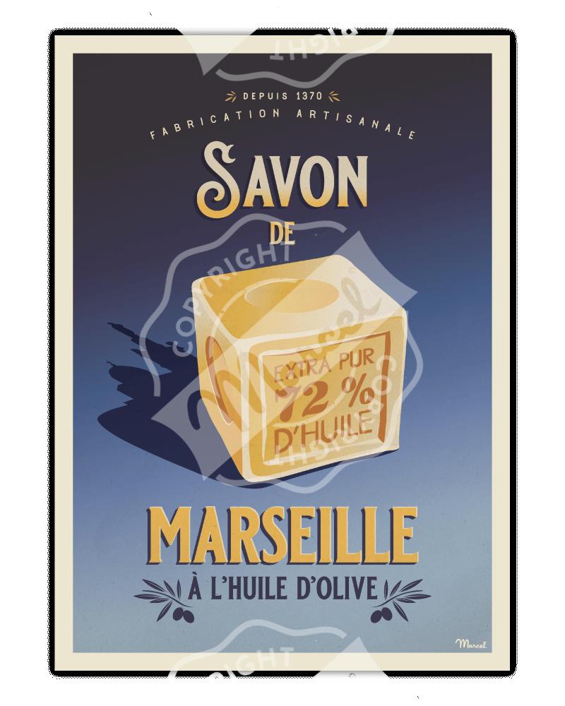 Poster SAVON de MARSEILLE
