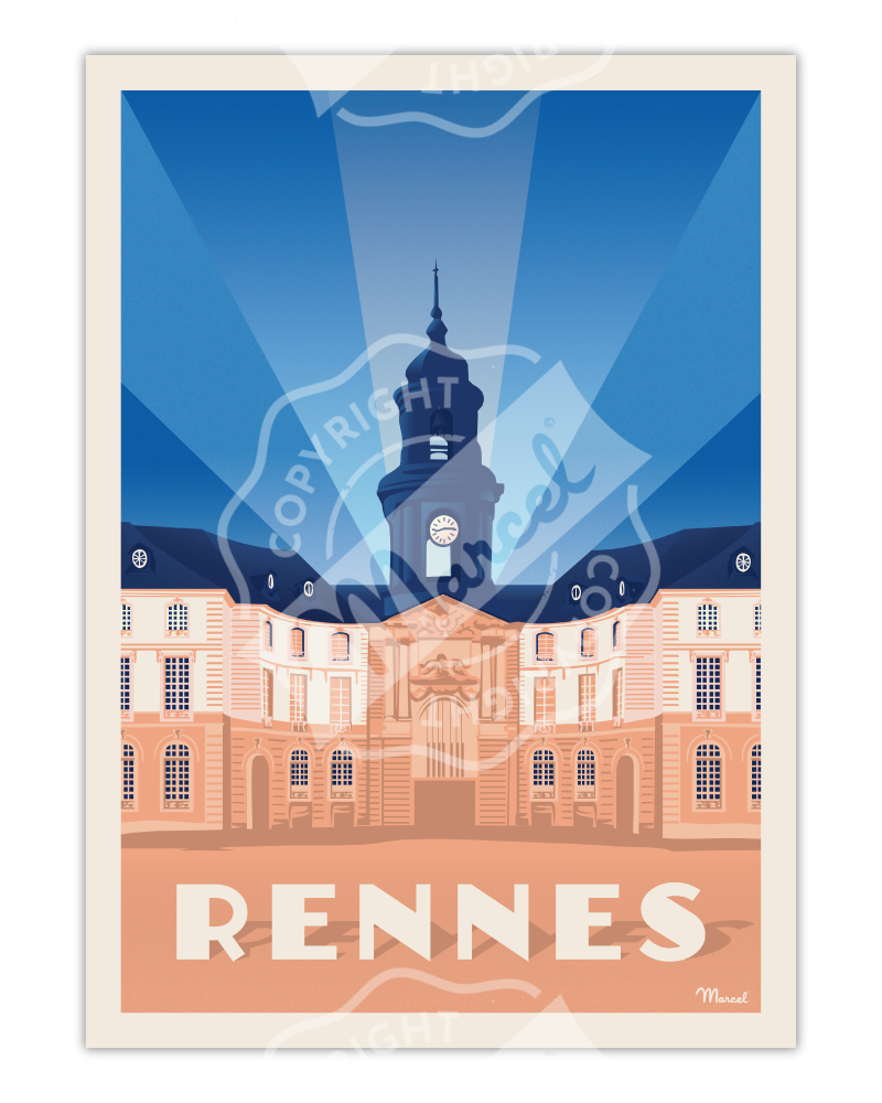 Poster RENNES « Hôtel de...